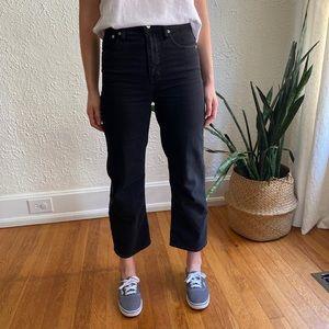Slim Wide-Leg Jeans in Lunar Wash, Sz 25
